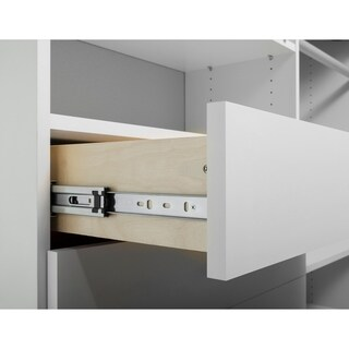 TidySquares Classic White Wood 59.5 x 99 Corner Walk-in Closet Organizer