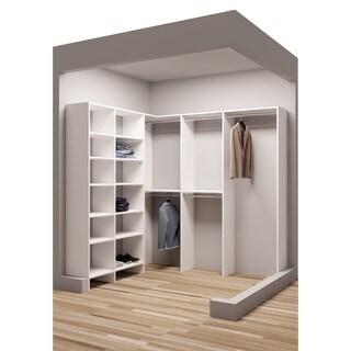TidySquares 81 x 78 1/4-inch Corner Walk-in Closet Organizer 1