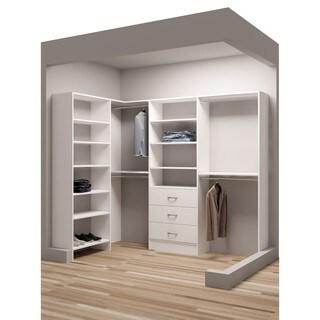 "TidySquares White Wood 93 x 65.5"" Walk-in Closet System"