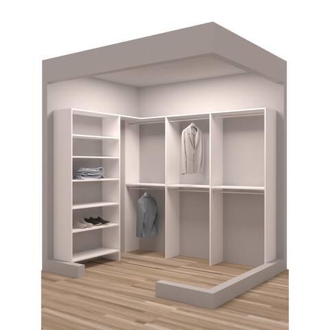 "TidySquares White Wood 93 x 73"" Walk-in Closet System"
