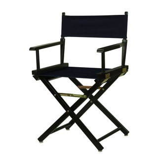 Black Wood and Canvas 18-inch Director's Chair