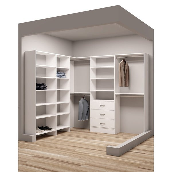 Tidysquares Classic White Wood 93 X 84 25 Corner Walk In