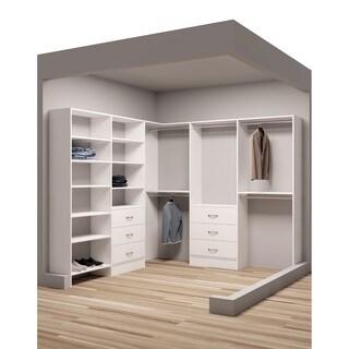 TidySquares 93 x 102 1/4-inch Corner Walkin Closet Organizer 2