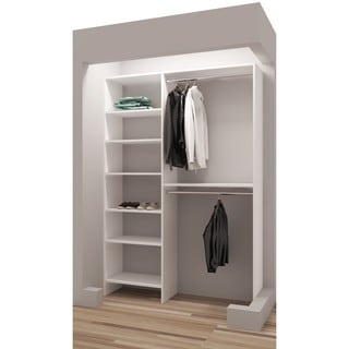 TidySquares Classic White Wood 50 Reachin Closet Organizer Design 3