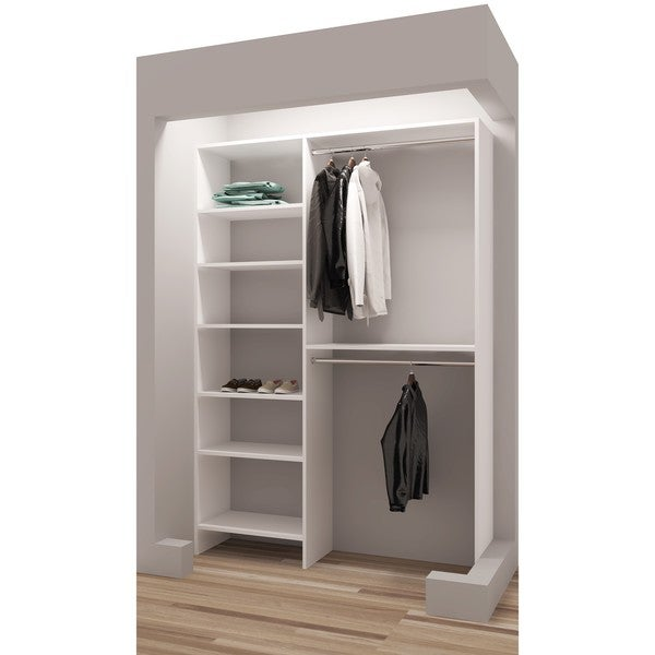 TidySquares White Wood 56 1/4 Inch Reach In Closet Organizer 3