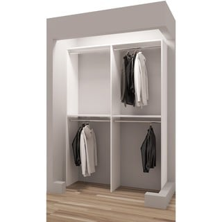 TidySquares Classic White Wood Reach-in Closet Organizer Design 4