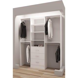 """TidySquares White Wood 63"""" Reachin Closet Organizer"""