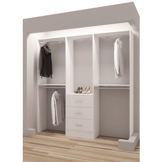 TidySquares White Wood 75-inch Reach-in Closet Organizer