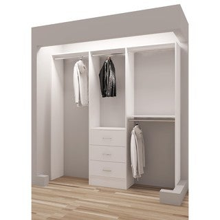 TidySquares White Wood 75-inch Reach-in Closet Organizer