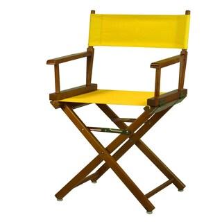 Honey Oak Frame 18-inch Director's Chair