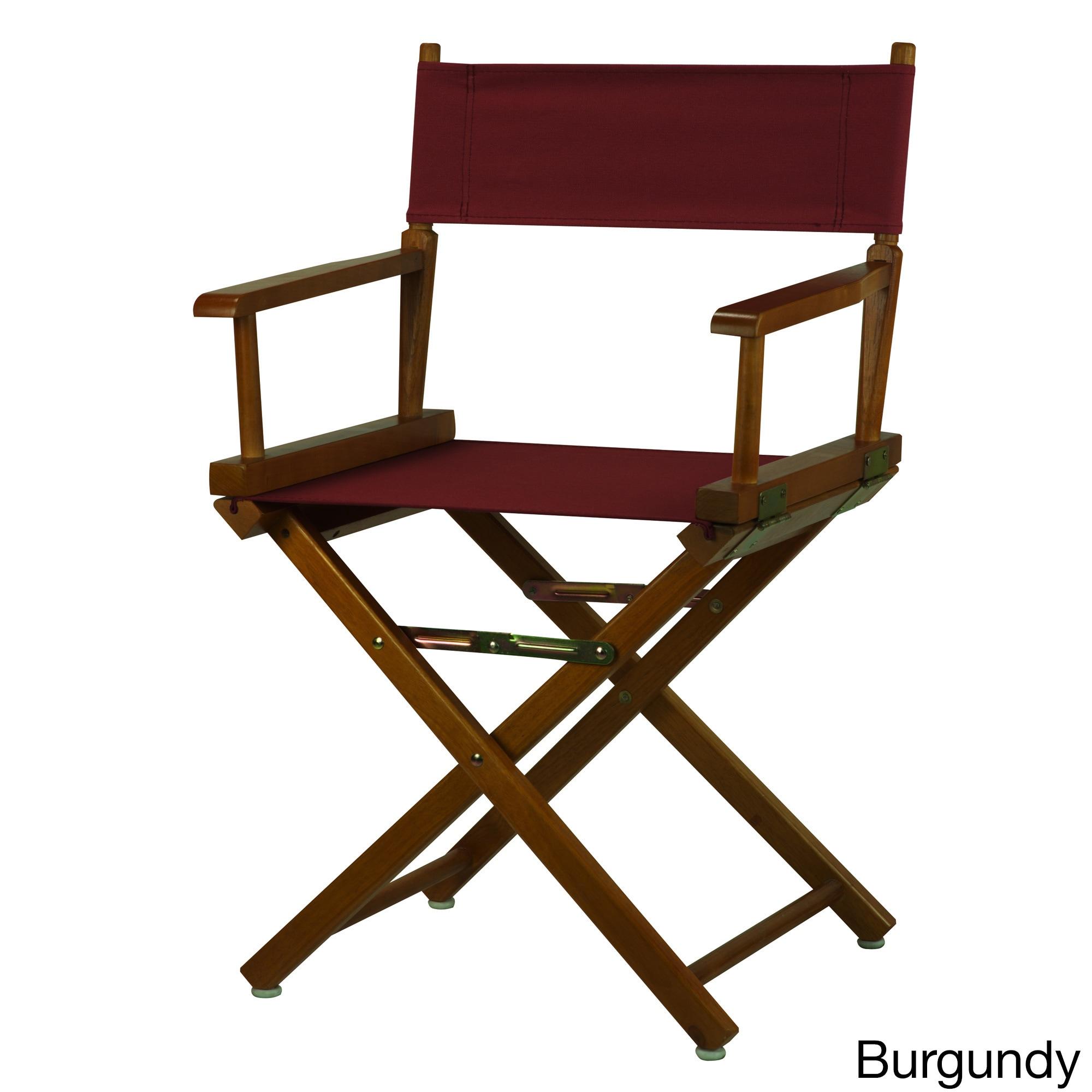Honey Oak Frame 18-inch Director's Chair (Burgundy), Brow...