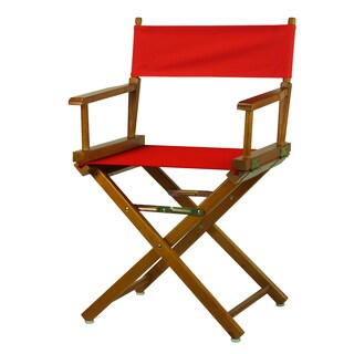 Honey Oak Frame 18-inch Director's Chair