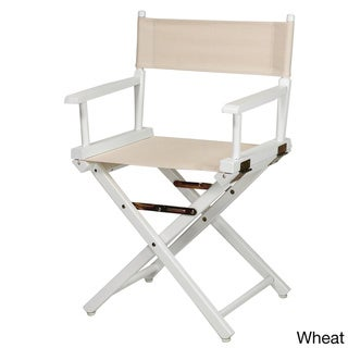 White Frame 18-inch Director's Chair