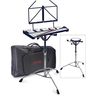 Stagg BELL-SET 32 Metallophone and Practice Percussion Set with Gig Bag