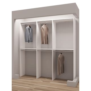 TidySquares Classic White Wood 81-inch Reach-in Closet Organizer