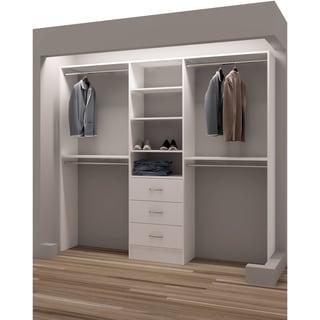 TidySquares White Wood 87-inch Reach-in Closet Organizer