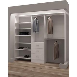 TidySquares Classic White Wood Reach-in Closet Organizer Design 3