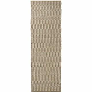 "Artist's Loom Flatweave Contemporary Solid Pattern Cotton/Jute Rug - 2'6""x7'6"""