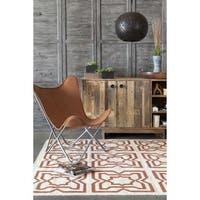 Artist's Loom Flatweave Contemporary Geometric Pattern Wool Rug - 7'x10'