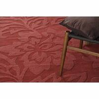 Artist's Loom Hand-Tufted Contemporary Solid Pattern Wool Rug - 7' x 10'
