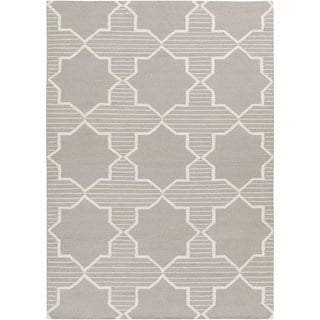 Artist's Loom Flatweave Contemporary Geometric Pattern Wool Rug (3'x5')