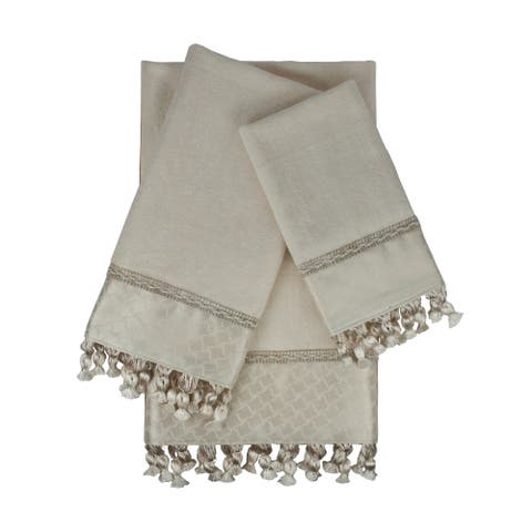 Sherry Kline Rochdale 3-piece Embellished Towel Set