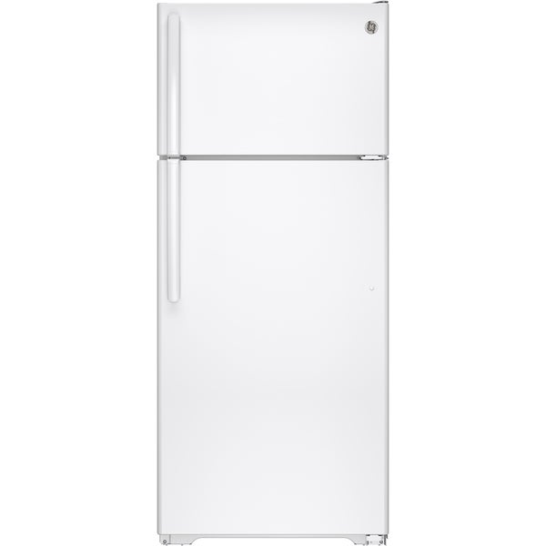 Shop Ge Series 17 5 Cu Ft Top Freezer Refrigerator With