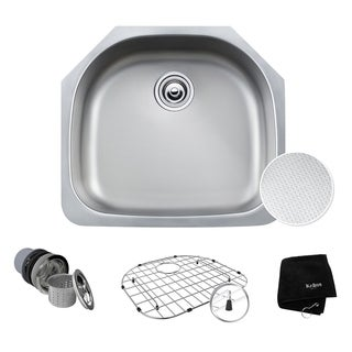 KRAUS Outlast MicroShield Scratch-Resist Stainless Steel Undermount Single Bowl Sink, 23-inch 16 Gauge
