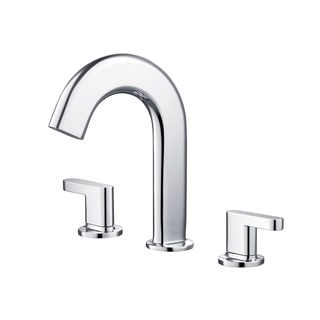 KRAUS Ino Two Handle 8 Inch Widespread Bathroom Faucet with Custom Laminar Flow