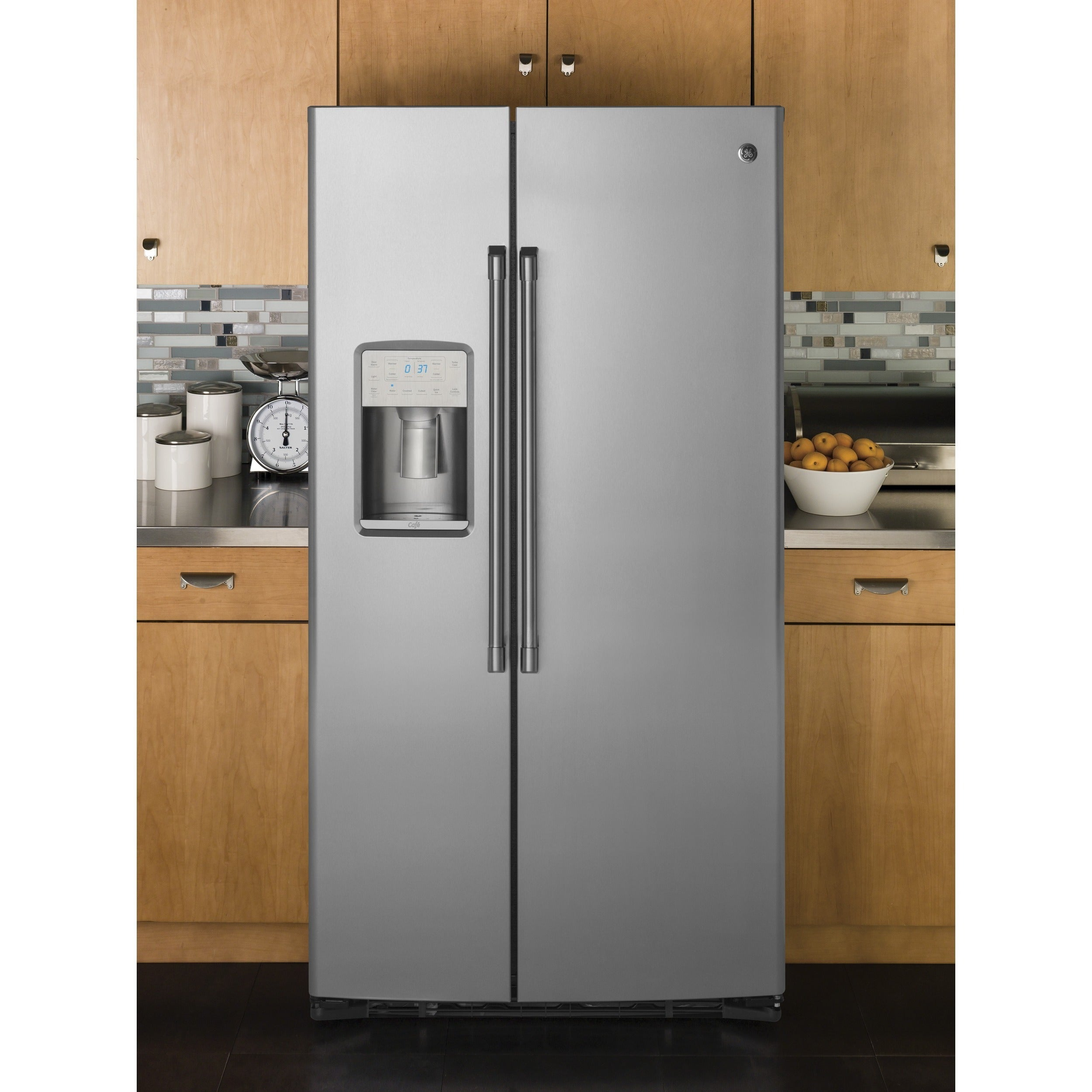 GE Cafe Series 21.9 Cubic Feet Counter-depth Side-by-Side Refrigerator STAINLESS STEEL