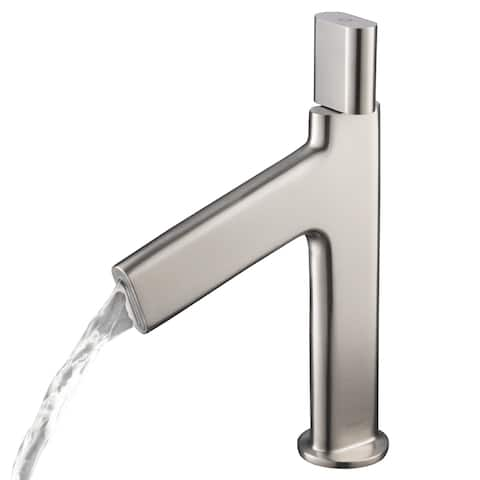 Kraus KEF-15701 Ino Single Hole Single-Handle Bathroom Basin Faucet with Custom Laminar Flow
