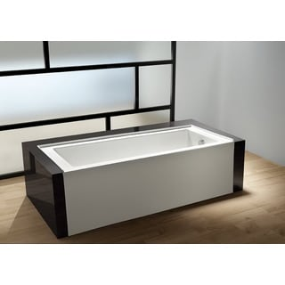 Contemporary 60-inches Drop-in Alcove Acrylic Bathtub