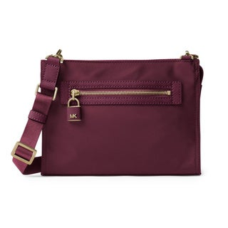 Michael Kors Janie Plum Nylon Large East West Crossbody Bag
