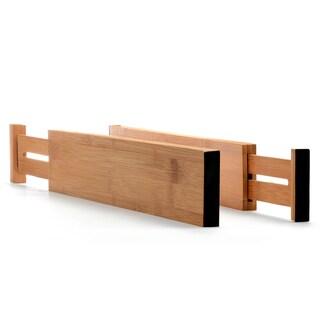Belmint Bamboo Deep Kitchen Drawer Dividers, Set of 2