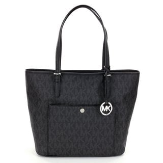 Michael Kors Jet Set Item Black Large Snap Pocket Tote