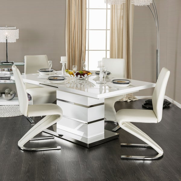 Shop Furniture Of America Borm Contemporary White 5-piece