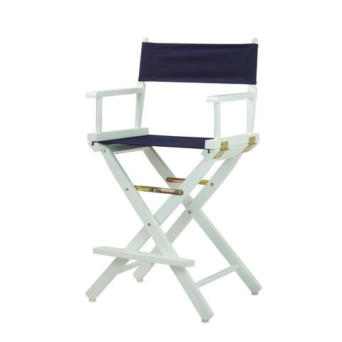 White Frame 24-inch Director's Chair