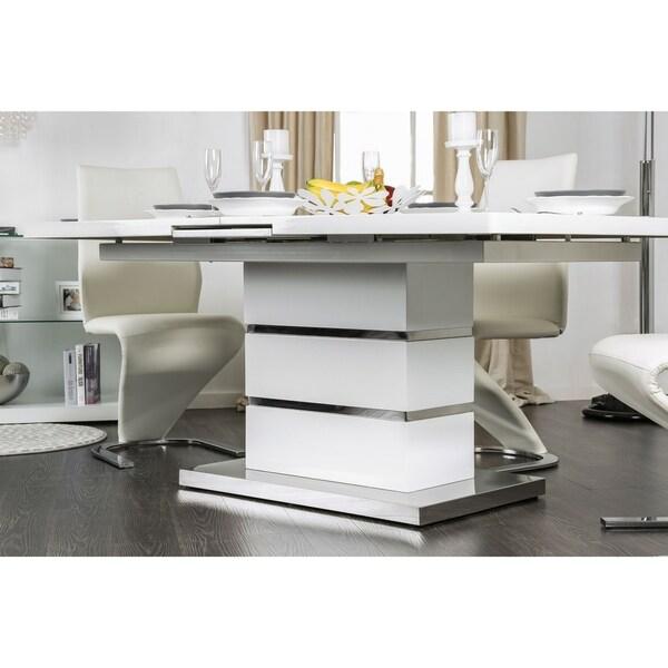 Shop Furniture Of America Borm Contemporary White 78-inch