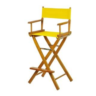 Honey Oak Frame 30-inch Director's Chair