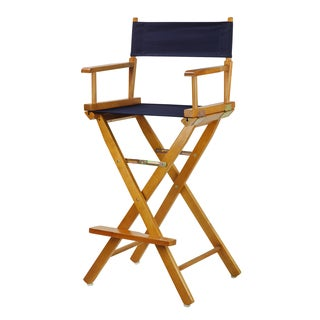 Honey Oak Finish Wood and Canvas 30-inch Director's Chair