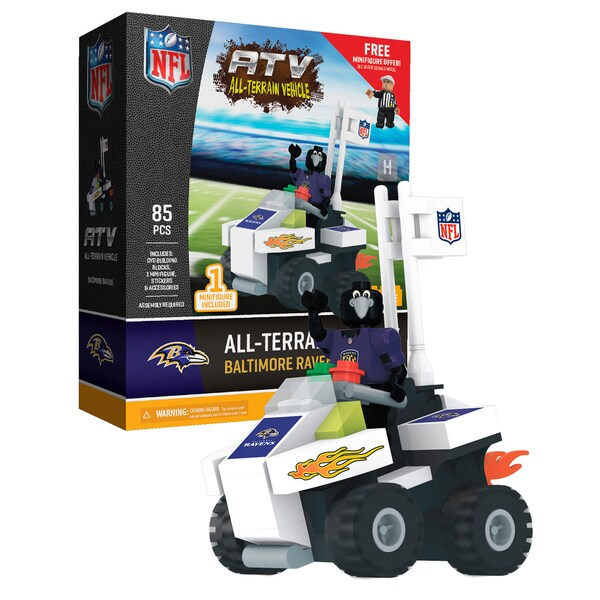 Baltimore Ravens NFL 4 wheel ATV with Mascot