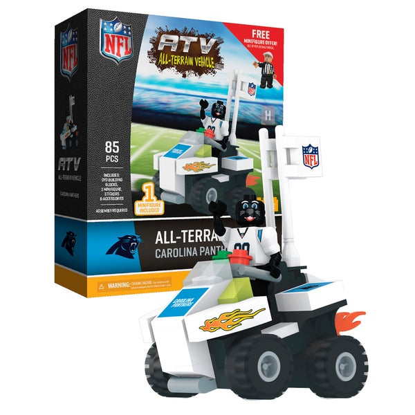 Carolina Panthers NFL 4 wheel ATV with Mascot