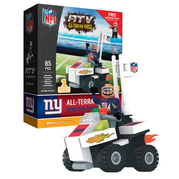 New York Giants NFL 4 wheel ATV with Giants Super Fan