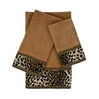 Sherry Kline Leopard Nugget 3-piece Embellished Towel Set