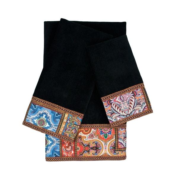 Sherry Kline Dawson 3-piece Embellished Towel Set