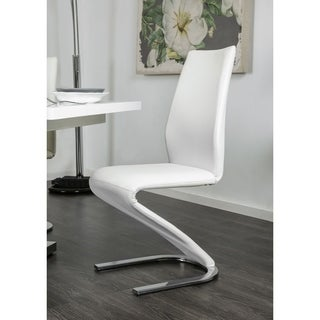 Novas Contemporary White Z-Shaped Dining Chair (Set of 2) by FOA