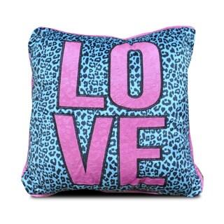 Seventeen Collection Pop Cheetah 'Love' Throw Pillow