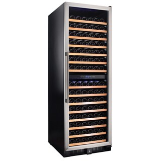 Smith & Hanks 166 Bottle Dual Zone Wine Cooler, Stainless Steel