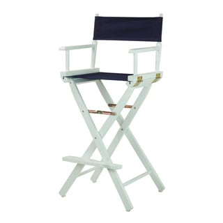 White Frame 30-inch Director's Chair