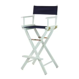 White Frame 30-inch Director's Chair|https://ak1.ostkcdn.com/images/products/13224148/P19941771.jpg?impolicy=medium